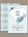 Card Plat Invitatii de nunta 50-Invitații Stil Artistic Stil Flora Hârtie Perlă
