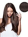 7 pieces / set # 4 brun fonce clip brun moka dans les extensions de cheveux 14inch 18inch 100% cheveux humains