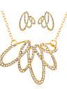 Seturi de bijuterii Lănțișor Cercei Set La modă Euramerican Ștras Aliaj Geometric Shape 1 Colier 1 Pereche de Cercei PentruNuntă