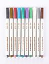 Pastels Stylo Marqueurs permanents Stylo Baril Rouge Noir Bleu Jaune Violet Orange Vert Couleurs d\'encre For Fournitures scolaires