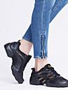 Chaussures de danse(Gris / Or) -Non Personnalisables-Talon Plat-Cuir-Baskets de Danse / Moderne