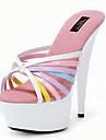 Femme-Mariage Decontracte Soiree & Evenement--Talon Aiguille-club de Chaussures-Chaussures a Talons-Similicuir