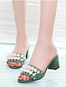 Damă Sandale Pantof cu Berete PU Vară Casual Negru Verde 2.5 - 4.5 cm