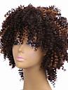 Perruques afro noir a brun pour femmes noires femmes synthetiques bouclees synthetiques perruques europeennes