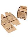 50 Piesă/Set Favor Holder-Cubic Hârtie cărți de masăCutii de Savoare Genți Savoare Cutii și Sticle de Savoare Sticle și Borcane pentru