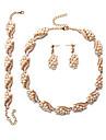 Seturi de bijuterii de mireasă Imitație de Perle Euramerican Perle Geometric Shape 1 Colier 1 Pereche de Cercei 1 Brățară PentruNuntă