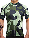 Maillot de Cyclisme Homme Manches Courtes Velo Maillot Sechage rapide Respirable Anti-transpiration LYCRA® Coolmax Classique Ete