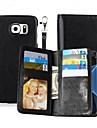 Pentru Titluar Card / Portofel / Cu Stand / Întoarce / Magnetic Maska Corp Plin Maska Culoare solida Greu PU piele SamsungNote 5 / Note 4