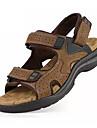Bărbați Sandale PU Vară Toc Plat Negru Galben Maro Sub 2.5 cm
