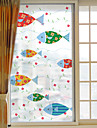 Motif Animal Contemporain Autocollant de Fenetre,PVC/Vinyl Materiel Decoration de fenetre