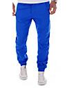 Bărbați Zvelt Șic Stradă Talie Medie,Inelastic Pantaloni Chinos Pantaloni Culoare pură Mată