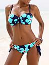 Dame Polyester Bustieră,Bikini Floral Imprimeu