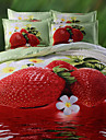 Geometrique 4 Pieces Polyester/Coton Imprime Polyester/Coton 1 x Housse de couette 2 x Taies d\'oreiller brodees 1 x Drap lit