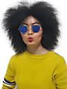 Femme Perruque Synthetique Sans bonnet Mi Longue Frises Noir Perruque Naturelle Perruque Deguisement