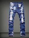 Bărbați Larg Șic Stradă Talie Medie,Micro-elastic Blugi Pantaloni Mată