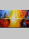 Peint a la main Abstrait Horizontale,Moderne Style europeen Un Panneau Toile Peinture a l\'huile Hang-peint For Decoration d\'interieur