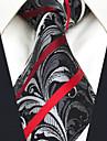 Bărbați Imprimeu Paisley Toate Sezoanele Vintage Petrecere Birou Casual Birou / Afacere Calitate superioară Modă Mătase,Cravată