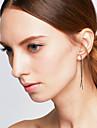 Cercei Dangle La modă stil minimalist Confecționat Manual Aliaj Animal Shape Auriu Negru Argintiu Bijuterii PentruNuntă Petrecere
