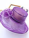 Damă Peteci Primăvara/toamnă Vară Pălărie Floare Film plastic Material Textil,Floppy Amestec de culori