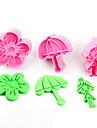 3 Outils de cookie Fleur Gateau Plastique Enfants A Faire Soi-Meme