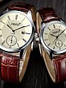 Bărbați pentru Doamne Ceas Elegant Ceas La Modă Ceas de Mână Quartz Piele Bandă Maro Negru Cafea