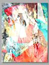 Pictat manual Abstract Vertical,Abstract Modern/Contemporan Birou / Afacere Un Panou Canava Hang-pictate pictură în ulei For Pagina de