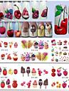 15 Autocollant d\'art de clou Autocollant de transfert d\'eau Filles & Jeunes Filles Maquillage cosmetique Nail Art Design
