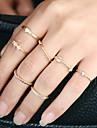 Pentru femei manşetă Ring Inel Design Circular Euramerican stil minimalist Aliaj Metalic Ștras Aliaj Circle Shape Round Shape Bijuterii