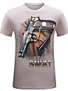 Bărbați Rotund Tricou Casul/Zilnic Plus Size Simplu(ă),Mată Imprimeu Manșon scurt Vară-Mediu Bumbac
