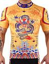 Maillot de Cyclisme Homme Femme Manches Courtes Velo Maillot Sechage rapide Diminue Irritation Haute elasticite Leger Spandex 100 %