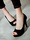 Damă Pantofi PU Vară Confortabili Sandale Cu Pentru Casual Negru Mov Rosu