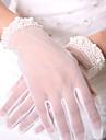 Lungime Încheietură Vâfuri de Degete Mănușă Plasă de Aerisire Tul Oficial Simplu Lux Plasă Mănuși de Mireasă Mănuși de Party/ Seară