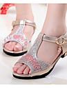 Fete Sandale Confortabili Sclipici Spumant Vară Casual Auriu Argintiu Roz Plat