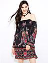 AliExpress ebay modele europene și americane stil de explozie rochie de imprimare în stoc