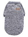 Chat Chien Manteaux Tee-shirt Sweatshirt Vetements pour Chien Soiree Decontracte / Quotidien Garder au chaud Sportif Uni Gris