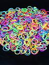 Culoare 600pcs curcubeu război de țesut luminos bandă război de țesut de moda (clip 1package s, culori asortate)