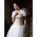 krátký rukáv saténové svatební nášivka bunda / svatební zábal (wsm0542)