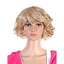 nadolijevanja kratko visina kvalitete sintetička svjetlo plava kovrčava kosa vlasulja