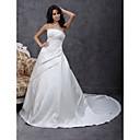 Lanting Bride® A-kroj / Princeza Sitna / Veći brojevi Vjenčanica - Klasično i svevremensko / Elegantno i luksuzno Dugi šlep Bez naramenica