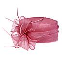 nádherný len s péřovou svatební / festivalový / líbánky klobouku (1192-005)