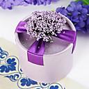 Okrugli ljubičasta korist kutija s cvijećem i vrpce (set od 12)