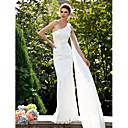 Lanting Bride® Sirena kroj Sitna / Veći brojevi Vjenčanica - Klasično i svevremensko Čipkasti izgled Jako kratki šlep Na jedno rame Čipka