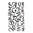 5 Pcs English Letters Waterproof Temporary Tattoo(17.5cm*10cm)