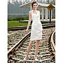 Lanting Bride® Kroj uz tijelo Sitna / Veći brojevi Vjenčanica - Šik i moderno / Za prijem Male bijele vjenčanice Kratki / miniNa vezanje