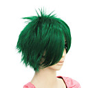 選択するキャップレスショート緑ストレート人工毛のかつら2色