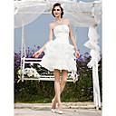 Lanting Bride® A-Linie / Princess Nadměrné velikosti / Drobná Svatební šaty - Elegantní & moderní / Šaty na hostinu Malé bíléKrátký /