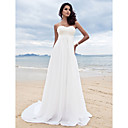 Lanting A-line Petite / Plus Sizes Wedding Dress - Ivory Court Train Sweetheart Chiffon
