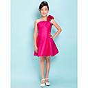 Lanting Bride® Ke kolenům Taft Šaty pro malou družičku A-Linie / Princess Jedno rameno Empír s Květina(y) / Křížení
