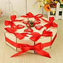 torta bomboniera a forma di rosso rinbbon (set di 10)