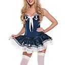 sexy modrá polyester námořník oblek s mašlí